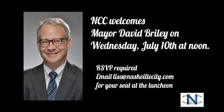 Speaker Series 2019-Mayor David Briley tickets