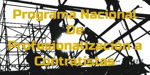 Programa Nacional de Profesionalización a contratistas