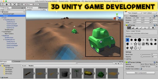 3D Game Development with Unity - Thursday 11th July
