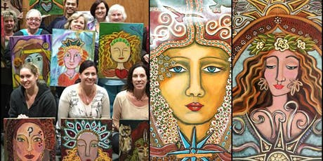 New Moon New Beginnings Paint Your Inner-Guide Portrait Intentional Creativity Workshop tickets