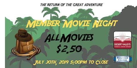 Member Movie Night - 2019 tickets
