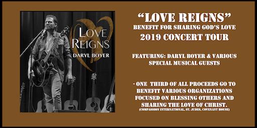 Daryl Boyer - Concert (Love Reigns-Benefit Tour)Beachwood, NJ.