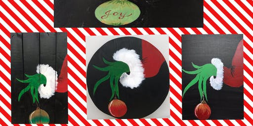 """Christmas in July Adult Open Paint """"Christmas Thief"""""""
