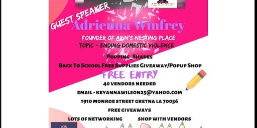 Free back school supplies giveaway/popupshop