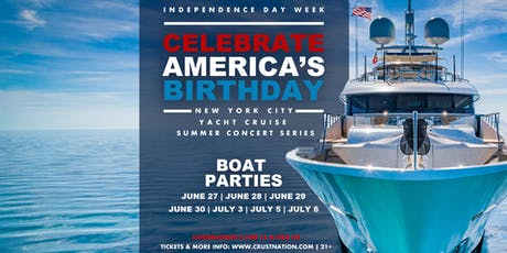#1 NYC Independence Day Boat Parties - Concert Yacht Cruise Around Manhattan tickets