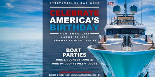 #1 NYC Independence Day Boat Parties - Concert Yacht Cruise Around Manhattan