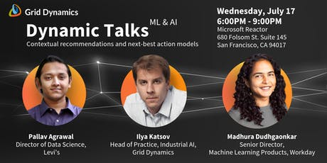 "Dynamic Talks: San Francisco ""Contextual recommendations and next-best action models"" tickets"