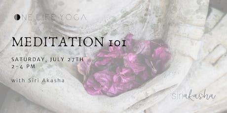 Meditation 101  tickets