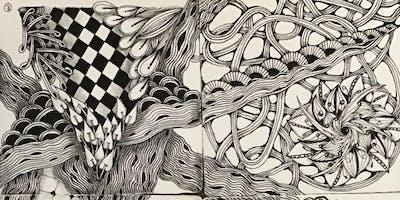 Basic Zentangle drawing