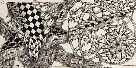 Basic Zentangle drawing tickets