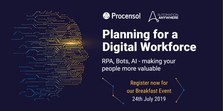 Planning for a Digital Workforce: Robotic Process Automation, AI and Bots tickets