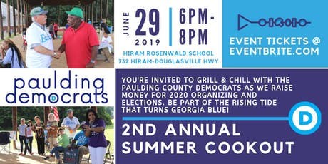 Paulding County Democrats' 2nd Annual Grill & Chill Summer Cookout tickets