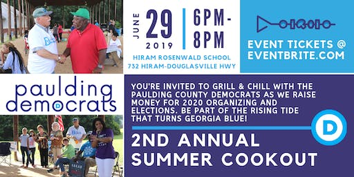 Paulding County Democrats' 2nd Annual Grill & Chill Summer Cookout