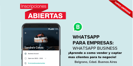Curso ¿Como vender a través de WhatsApp Business?  entradas
