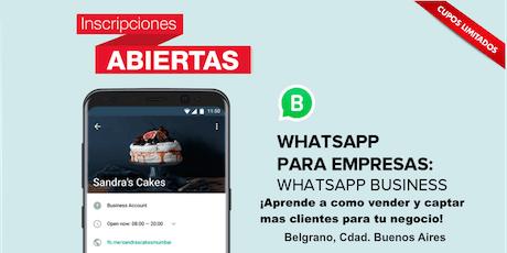 Curso ¿Como vender a través de WhatsApp Business?  entradas