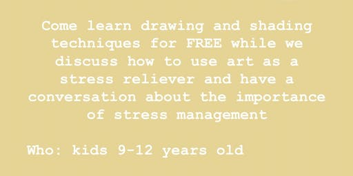 FREE STRESS RELIEVING ART WORKSHOP