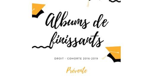 PRÉVENTE  - Album de finissants - Droit - Cohorte 2016-2019