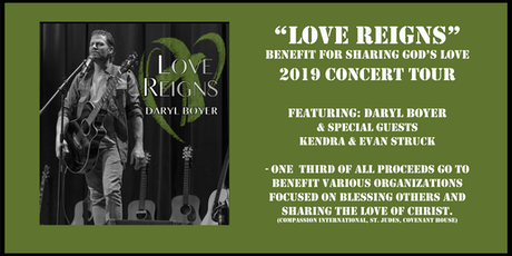 Daryl Boyer - Concert (Love Reigns-Benefit Tour)Jackson, MI. tickets