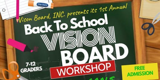 Back to School Vision Board Workshop
