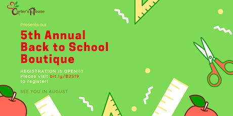 Carter's House Back to School Boutique 2019 tickets