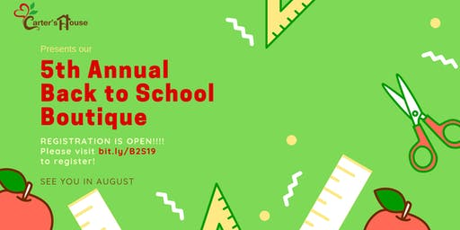 Carter's House Back to School Boutique 2019