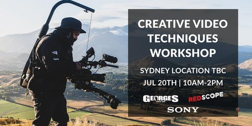 Creative Video Techniques Workshop with Redscope and Sony