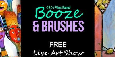 Booze & Brushes (Live Art Show)