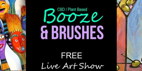 Booze & Brushes (Live Art Show) tickets