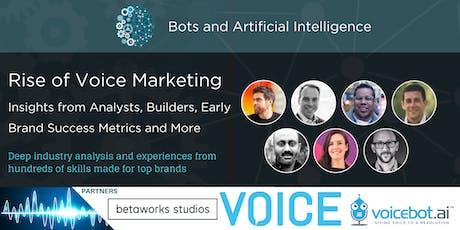 Rise of Voice Marketing - Brand Success Metrics / Alexa, Google Assistant tickets