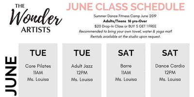 Core Pilates Class for Adults & Teen 16+yrs