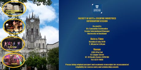 UNIVERSITY OF AUCKLAND CREATIVE ARTS INFO SESSION tickets
