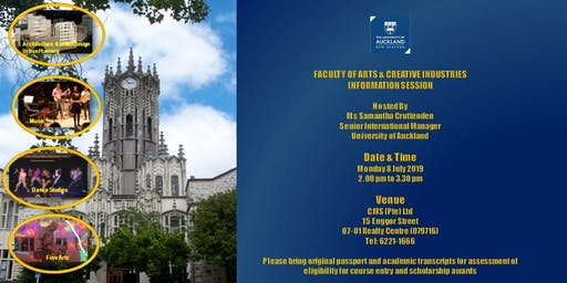 UNIVERSITY OF AUCKLAND CREATIVE ARTS INFO SESSION