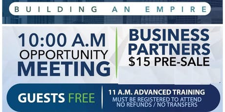Private Business Reception & Team Training To Build an Empire tickets