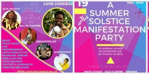 SUMMER SOLSTICE MANIFESTATION PARTY #visionboardparty
