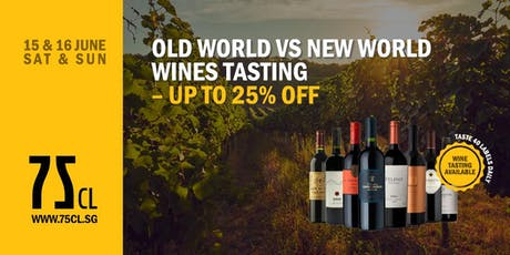 Old World vs New World Wines Tasting – Up to 25% OFF tickets