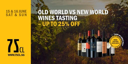 Old World vs New World Wines Tasting – Up to 25% OFF
