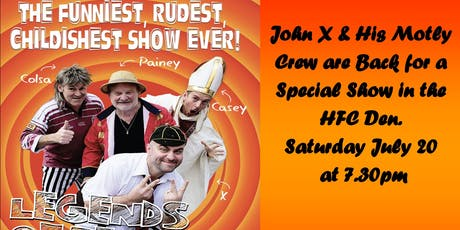 "John X ""The Legends of Revue Rides again!"" - live at the Hobart F.C. tickets"