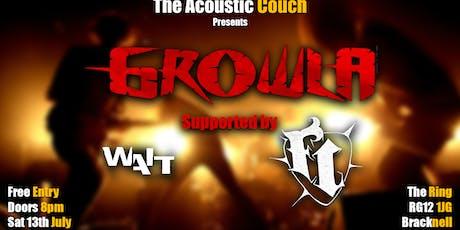 Growla + Wait + Fred Irwin tickets