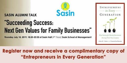 Succeeding Success – Next Gen Values for Family Businesses