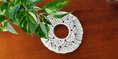 August Intermediate Macrame Wreath Class  tickets