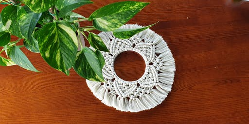 August Intermediate Macrame Wreath Class