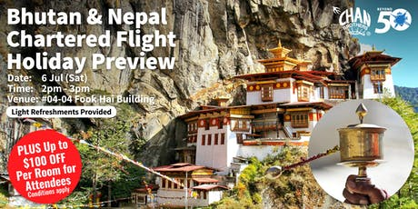 Bhutan & Nepal Chartered Flight Holiday Preview tickets
