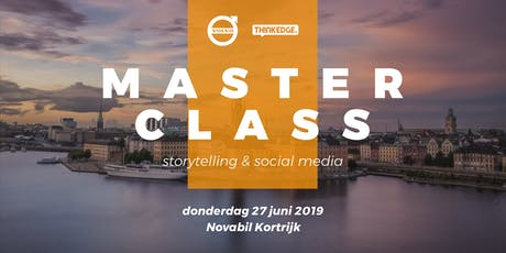 Masterclass storytelling & social media tickets