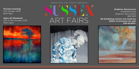 Sussex Art Fairs (East) at Brighton Racecourse (11th, 12th, 13th October) tickets