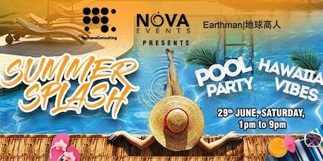 (SAT) 29 June | Summer Splash | Outdoor pool party tickets