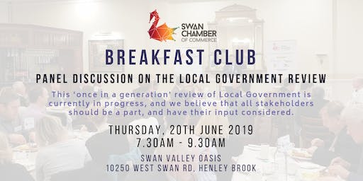 Breakfast Club: Local Government Reform Panel