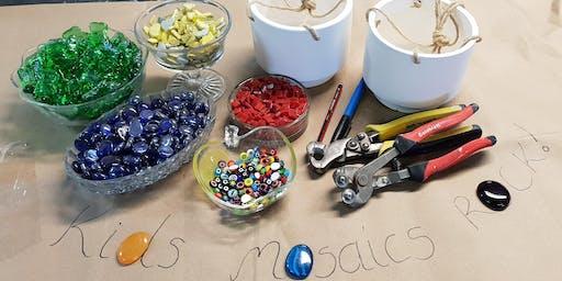 Kids School Holiday Mosaic workshops