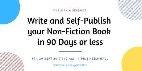 Write and Self-Publish your Non-Fiction Book on Amazon in 90 Days or less tickets