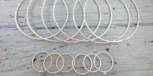 Jewellery & Silversmithing Workshop: Silver Bangles & Stacking Rings Workshop
