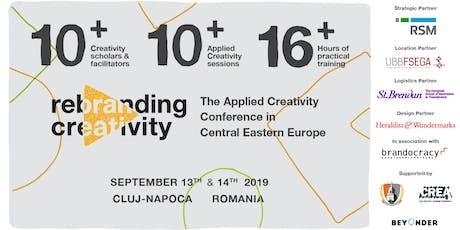 Rebranding Creativity 2019 tickets